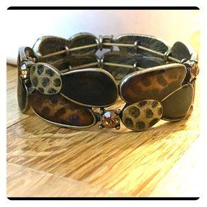 🆕Lia Sophia brown & gold stretch bracelet